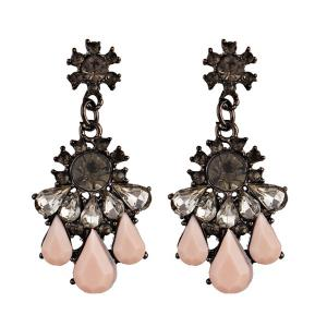 Statement Rhinestone Teardrop Chandelier Earrings