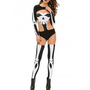 Skeleton Print Halloween Costume -