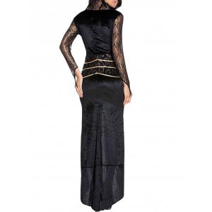 Queen Maxi Cosplay Dress - BLACK ONE SIZE