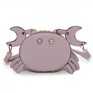Crab Faux Leather Crossbody Bag