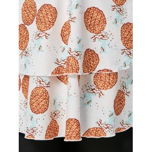 Plus Size Pineapple Print Tankini Set - WHITE 2XL