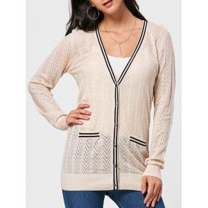 Pocket Long Sleeve Knit Cardigan