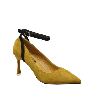 Ankle Strap Pointed Toe Pumps - GINGER 39