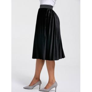 High Waisted Midi Pleated Skirt -