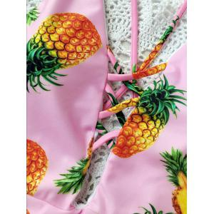Pineapple Print Criss Cross One-Piece Swimsuit -