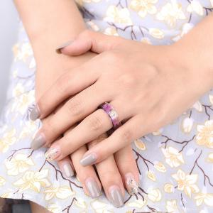 Bague Transparente Vintage Dry Flower Resin -