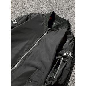Zip Up Sickle Graphic Brodé Bomber Jacket -