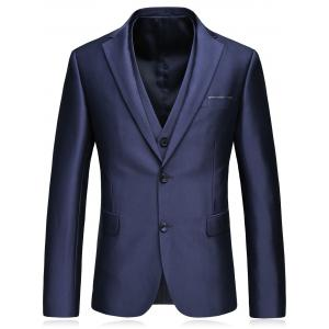 Single Breasted Slim Fit Blazer Three-Piece Suit -