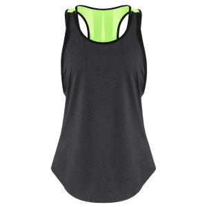 Coupe de couleur Back Slit Sporty Top -