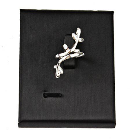 Chic Alloy Leaf Cuff Ring