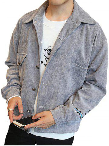 Latest Pockets Button Up Embroidered Jacket