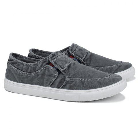 Slip On Elastic Band Canvas Shoes Gris 44