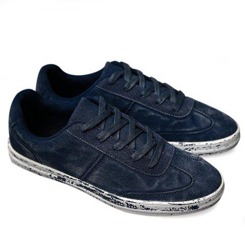 Low Top Lace Up Casual Shoes - Blue - 40