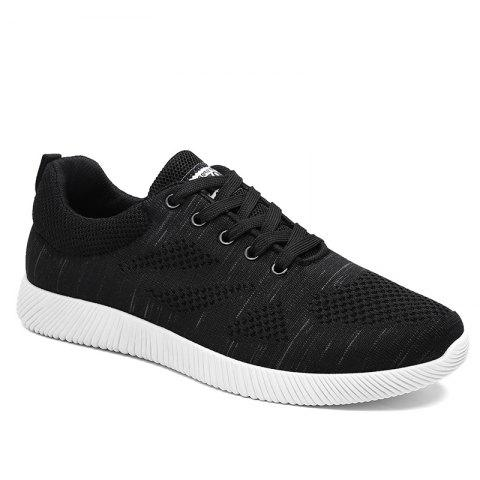 New Breathable Pinstripe Casual Shoes BLACK 40