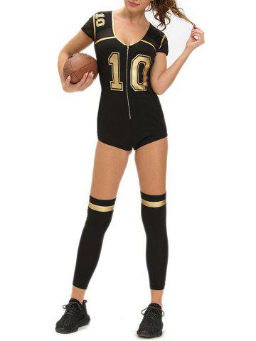 Outfit Football Halloween Costume - M BLACK Mobile