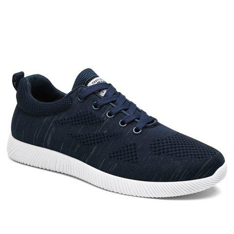 Chic Breathable Pinstripe Casual Shoes DEEP BLUE 43