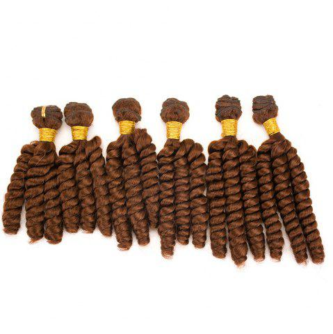 Latest 6Pcs Long Spiral Twisted Braids Hair Weaves