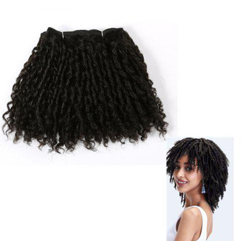 Sale Short Classy Lock Shaggy Curly Synthetic Hair Wefts - BLACK  Mobile