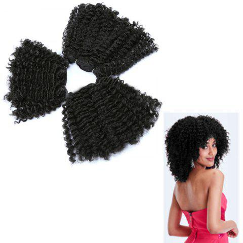 Affordable Short Shaggy Curly Heat Resistant Synthetic Hair Weaves BLACK