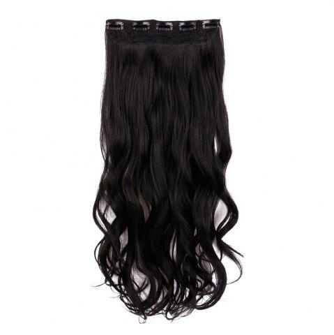 Buy Long Wavy Clip In Hair Extension - BLACK  Mobile