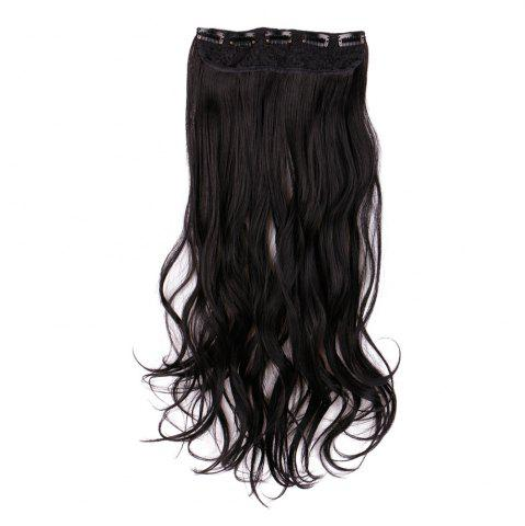Long Clip In Slightly Curly Hair Extension - Black