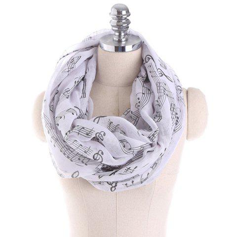 Trendy Note Stave Music Element Printed Infinity Scarf
