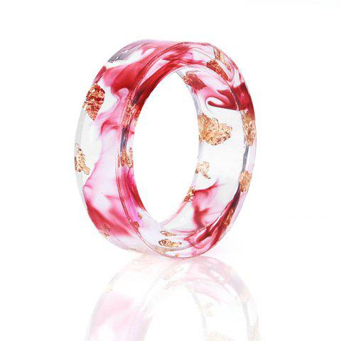 Online Dry Floral Transparent Resin Ring - 7 RED Mobile