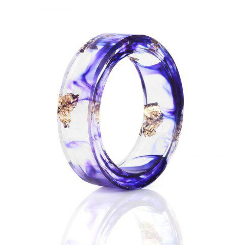 Fashion Vintage Dry Flower Resin Transparent Ring PURPLE 7