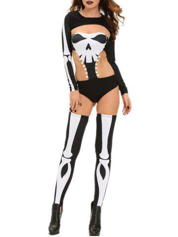 Outfits Skeleton Print Halloween Costume