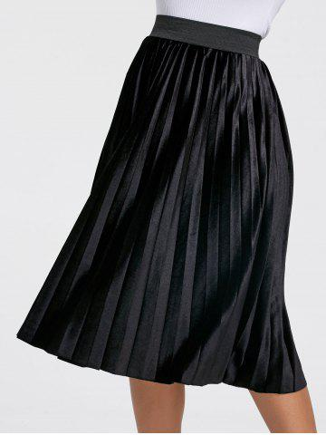 Latest High Waisted Midi Pleated Skirt