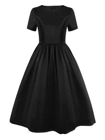 Store High Waist Vintage Skater Party Dress
