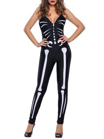 Outfits Skeleton Halloween Cosplay Cami Jumpsuit