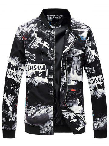 Fancy Car Graphic Print Zip Up Jacket