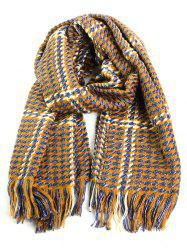 Tiny Plaid Fringe Warm Shawl Scarf