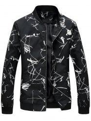 Insect Abstract Print Zip Up Jacket