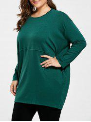 Plus Size Long Sleeve Tunic Top  with Pocket