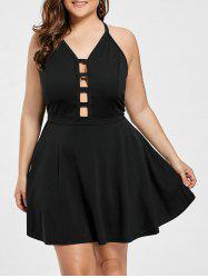 Plus Size Cut Out Mini Party Dress