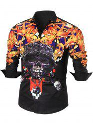 Skull Printed Long Sleeve Shirt
