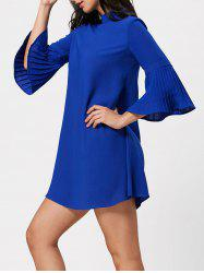 Bell Bottom Sleeve Tunic Shift Dress