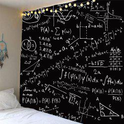 Waterproof Mathematical Notes Pattern Wall Hanging Tapestry