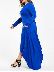 Long Sleeve Plus Size Maxi Asymmetric Dress