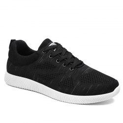 Breathable Pinstripe Casual Shoes - BLACK 40