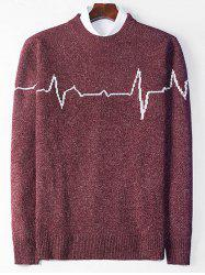 Crew Neck Electrocardiogram Sweater