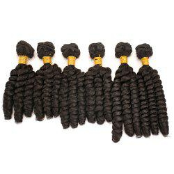 6Pcs Long Spiral Twisted Braids Hair Weaves - BLACK