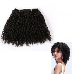 Short Classy Lock Shaggy Curly Synthetic Hair Wefts - BLACK