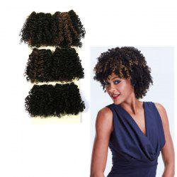 Short Shaggy Heat Resistant Fiber Curly Hair Weaves