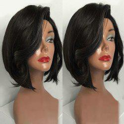 Short Deep Side Part Glossy Straight Bob Synthetic Wig