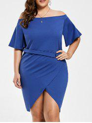 Off The Shoulder Tulip Plus Size Dress