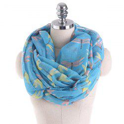 Multicolor Dragonfly Printing Infinity Scarf