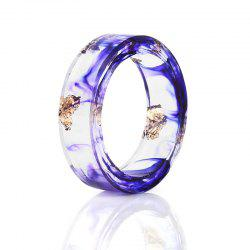 Vintage Dry Flower Resin Transparent Ring